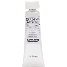Schmincke AKADEMIE® Akrylmaling, 60 ml, titanium white (111)
