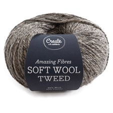Adlibris, Soft Wool Tweed, 50 g, Light Grey A458