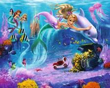 Mermaids-Väggtapet, Walltastic