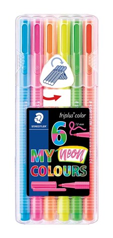 Triplus® color 6-pack, i STAEDTLER-box, 1 mm fiberspets. Neon