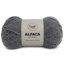 Adlibris Alpaca garn 50g Medium Grey A007