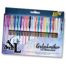 """Blackstyle, """"metallic/glitter"""" , 20 gel-pens, asstd. Colours"""