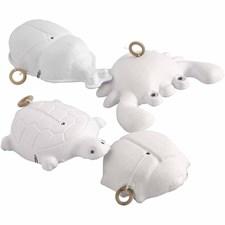 Liikkuvat eläimet, pit. 10-15 cm, lev. 8-14 cm, 16 kpl