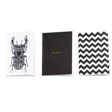 3st A6 Anteckningshäften, Black Notes