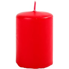 Blockljus, röd, dia. 40 mm, H: 60 mm, 12st.