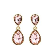 Glam double drop Örhängen, Vintage rose gold
