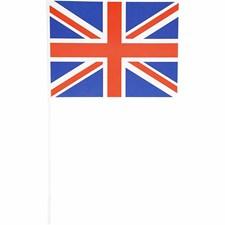 Pappersflaggor, stl. 20x25 cm, 10 st.
