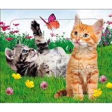 Rammepuslespill, Søte katter, 12 brikker