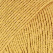 Drops Cotton Merino Uni Colour Lanka Villasekoitus 50g Mustard 15