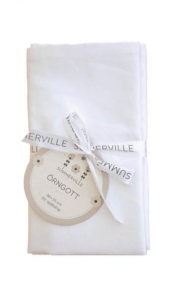 Örngott percale 2-pack spjälsäng eko vitt  Summerville organic  Summerville Organic