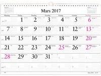 Väggkalender 2017 Månad Burde