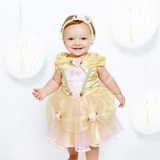 Kostyme, Belle, 12-18 måneder, Skjønnheten og udyret, Disney Princess