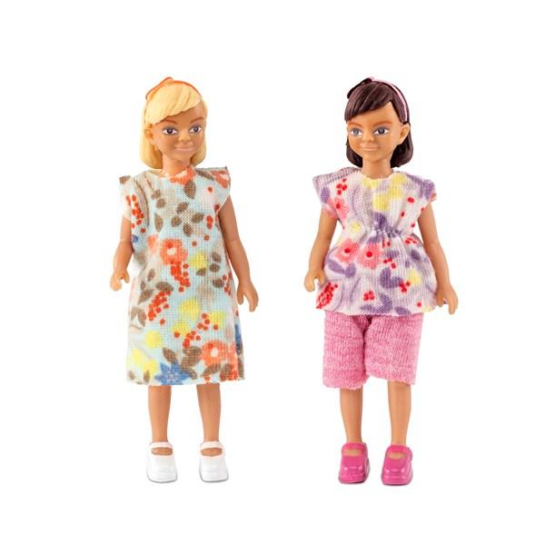 Två Flickor  Lundby - dockskåp & tillbehör