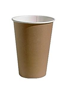 Paperikuppi 20 cl ruskea/valkoinen (100 kpl)