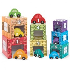 Kloss- och stapelgarage, Melissa & Doug