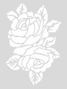 Sjablon Medium, Roser, 18,5 x 24,5 cm