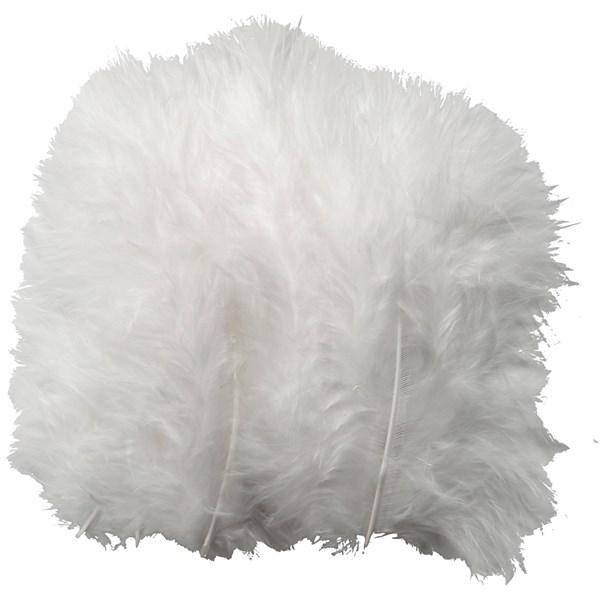Dun, str. 5-12 cm, 15 stk., hvit