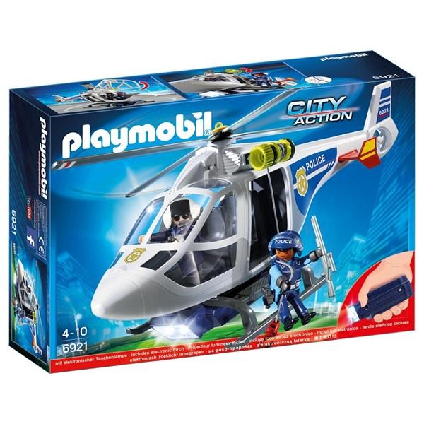 Polishelikopter med LED-sökljus, Playmobil City Action (6921)