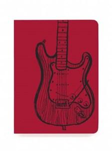 Anteckningsbok Liten Guitar 11x14 cm Olinjerad Soft Cover
