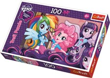 My Little Pony, Equestria Girls, Puslespill, 100 brikker, Trefl