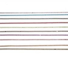 Ketju, lev. 3 mm, 10x2 m, metallic-värit