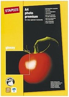 Fotopapir STAPLES Prem+ A4 glossy (25)