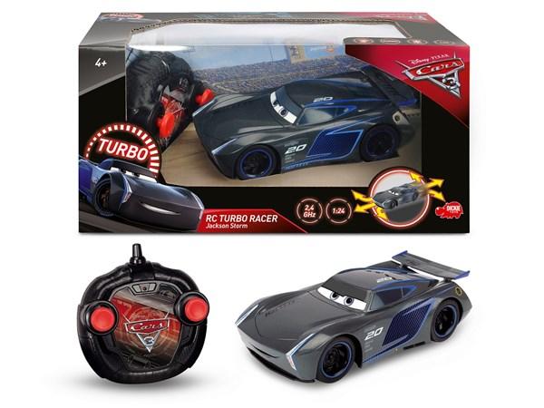 Disney Cars 3 Jackson Storn Radio-ohjattava Auto RC Turbo Racer 1:24