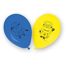 Minions Ballonger, 8 st, Gul/Blå
