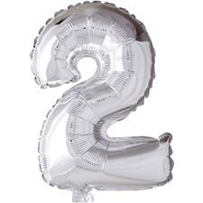 Folieballong, sølv, H: 41 cm, 2, 1stk.