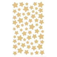 Klistermärken Stjärna 4 Ark Guld