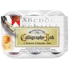 Kalligrafiaa Muste Sarja Winsor & Newton Calligraphy Ink 6x30 ml