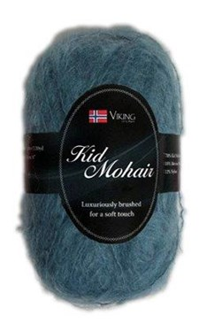 Viking of Norway Kid Mohair 50 gr Turkis 929