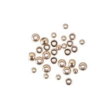 Metallperler Mini  Kuler og sirkler  Guldfargede 30 stk.
