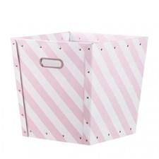Oppbevaringsboks striper, Rosa, Kids concept