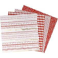 Origamipapir, str. 15x15 cm,  80 g, rød, 40ark