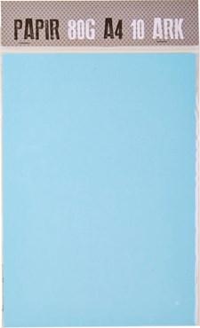 Papper A4 80g Ljusblå 10 ark