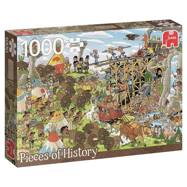 Fabelaktig Rob Derk History Puzzle, Wild West, Puslespill, 1000 brikker AT-95