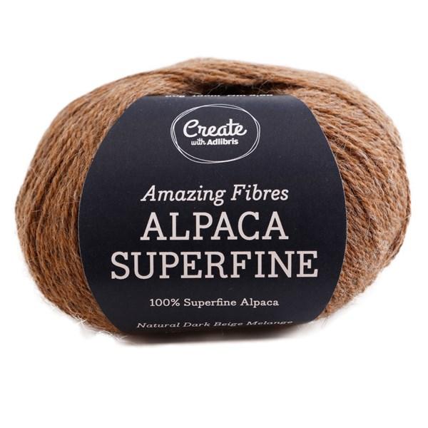 Adlibris Alpaca Superfine 50g Natural Dark Beige Melange A206
