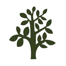 Applikation Tyg Set Träd 9,2x10,5 cm Mörkgrön