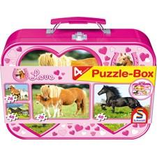 Horses Puzzle Box 2x26 palaa ja 2x48 palaa Schmidt