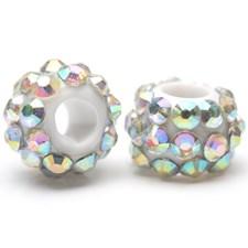 Strassilinkit, koko 9x13 mm, aukon koko 5 mm, 6 kpl, kristalli/kirkas