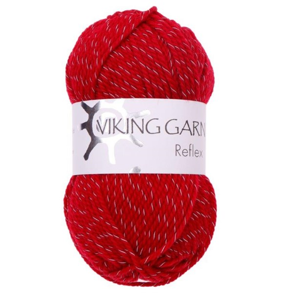 Viking of Norway Reflex Garn Ullmix 50g Röd 460