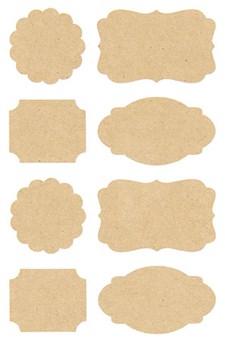 Voimapaperitarrat, Etiketit 15/ 10 cm, 32 kpl