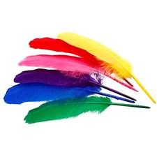 Indianfjädrar 20 cm Olika Färger 36 st