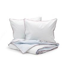 Sköna Hem Two fold Påslakanset i Tvättad Bomullspercale 240x220 cm Light blue/Blue