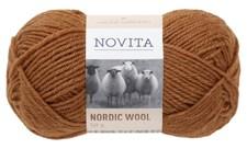 Novita Nordic Wool Garn Ullgarn 50 g, ekorre 645