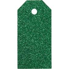 Manillamerker, str. 5x10 cm,  300 g, grønn, glitter, 15stk.