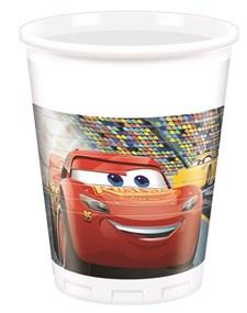 Disney Cars 3 Plastmuggar, 8 st