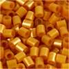 Rörpärlor, stl. 5x5 mm, hålstl. 2,5 mm, guld (61), medium, 6000st.