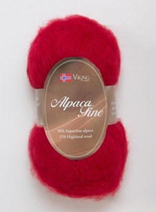 Viking of Norway Alpaca Maya Garn Alpackamix 50g Röd 755